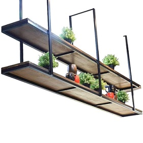 estanterias colgantes del techo