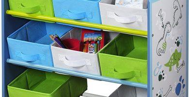 estante colorida infantiles