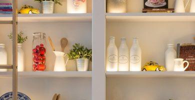 estante blanco cocina