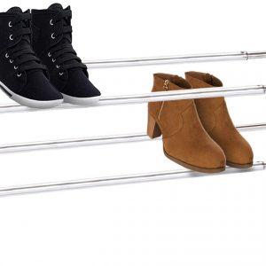 estante de zapatos de metal