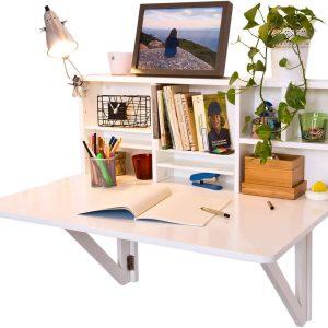 estanteria de pared con mesa plegable
