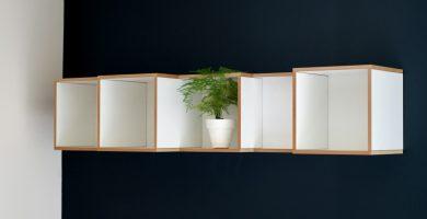 baldas blancas de madera