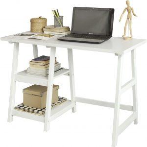 mesa de escritorio con baldas