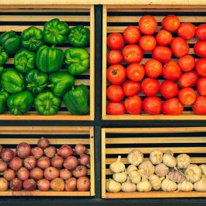 como hacer estante para frutas y verduras