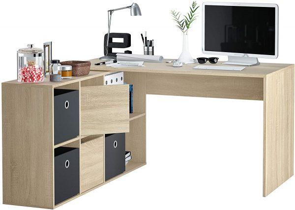 mesa adaptable con estante