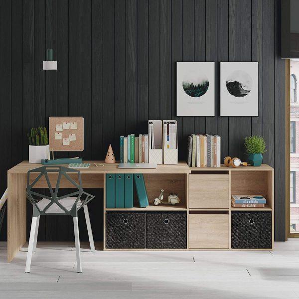 habitdesign escritorio de estudio con estantes y cajones