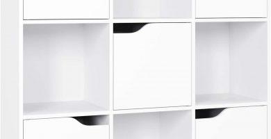 estanteria blanca con puertas grande