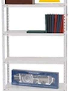 estante de metal blanco