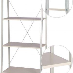 estanterias de metal blancas