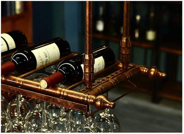 repisa para botellas de vino